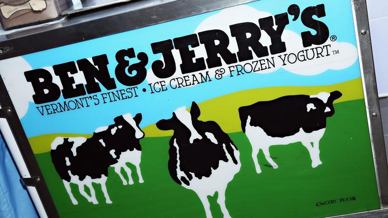 A Ben & Jerry's ice cream freezer