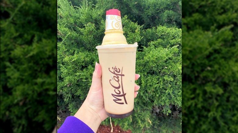 McDonald's iced coffee with ice cream