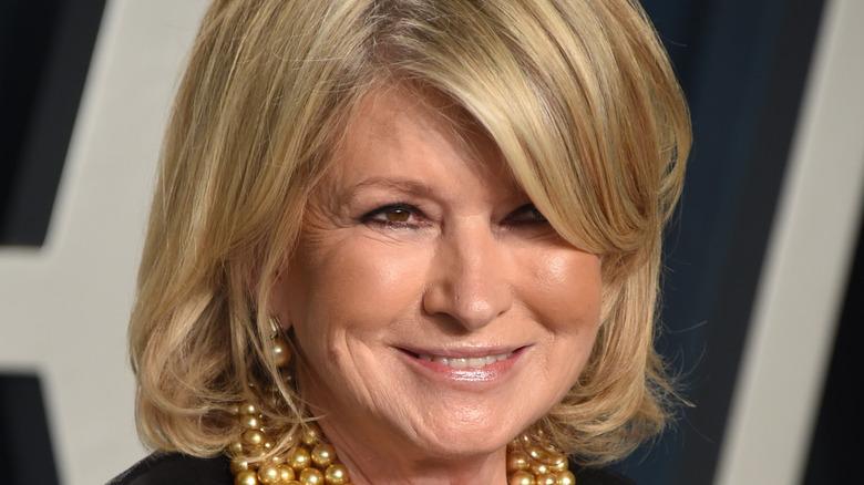 Martha Stewart hair over eye