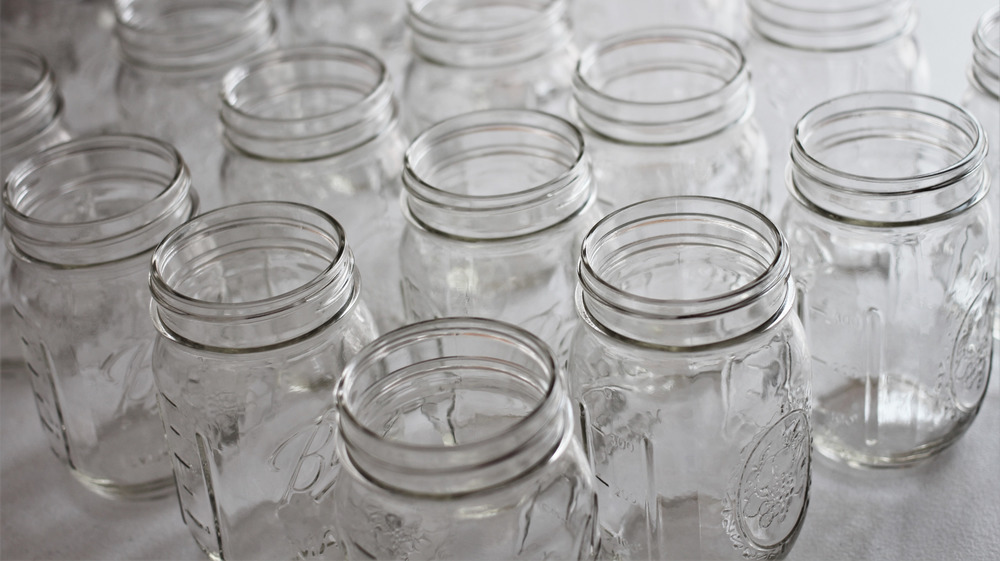 Rows of masor jars