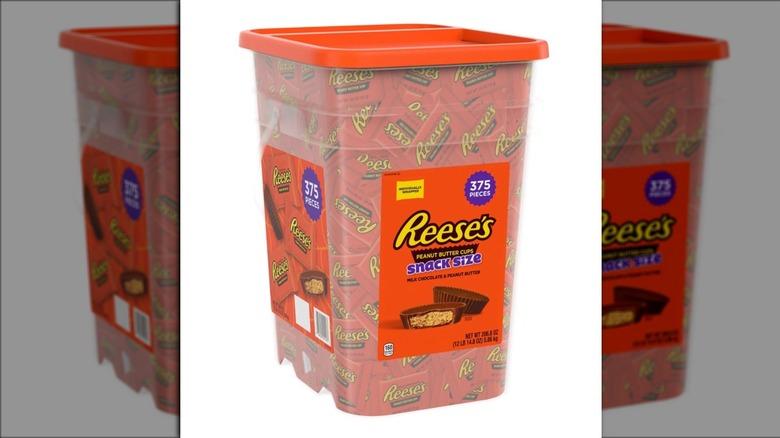 Giant bucket of Reeses