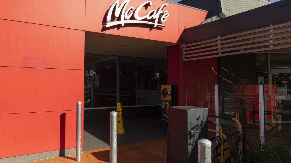 """Australian McDonald's exterior with """"McCafe"""" sign"""