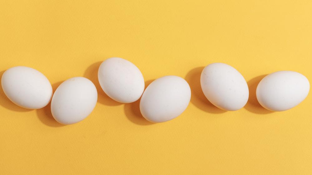 Unpainted Easter eggs