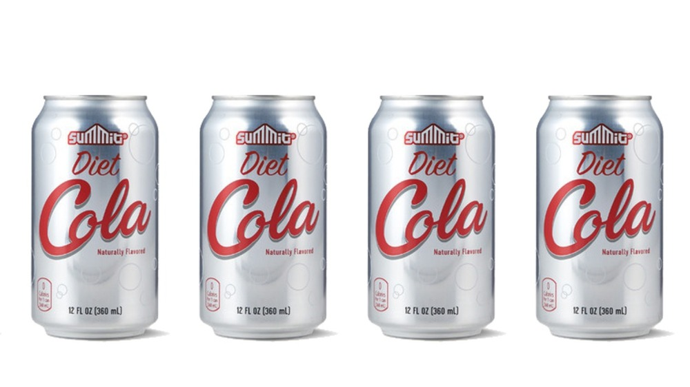 cans of Summit diet cola