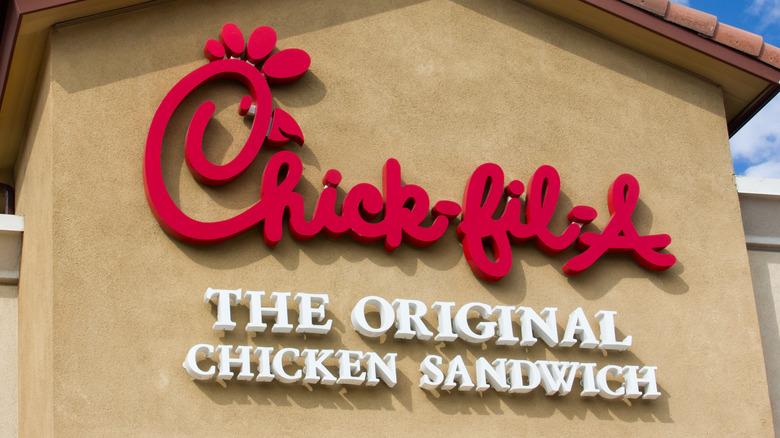 Chick-Fil-A logo on a storefront