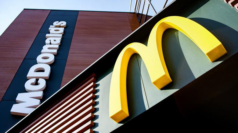 McDonald's logo in Belarus