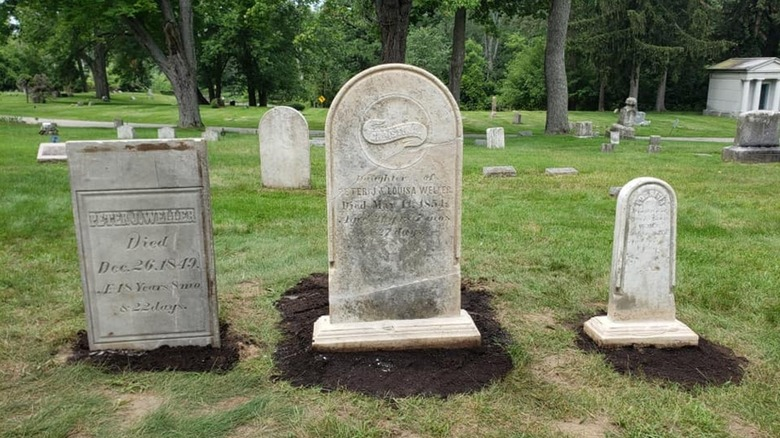 Peter Weller's tombstone at cemetery