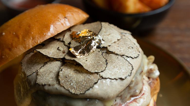 gold leaf and white truffle burger