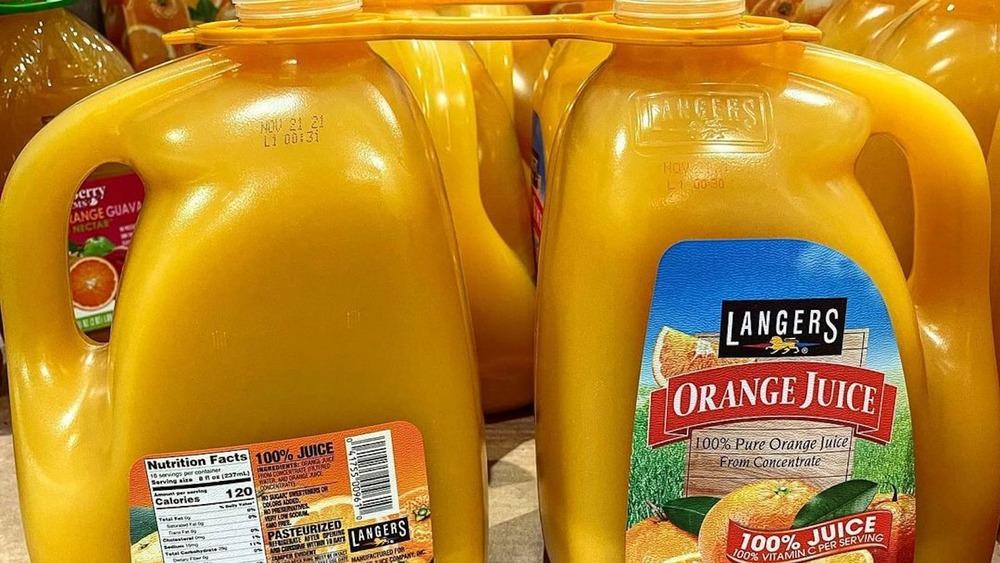 Two-pack of Langers orange juice