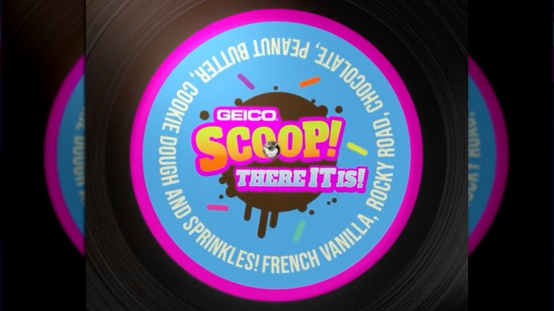 Geico Scoop There It Is ice cream logo