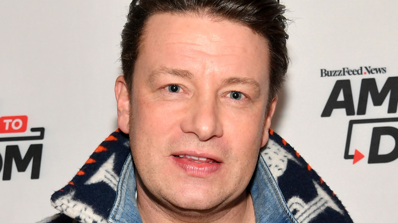 Jamie Oliver smiling at event