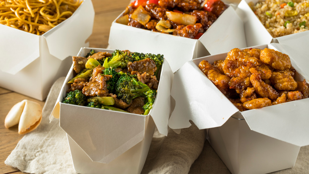 Boxes of Chinese takeout