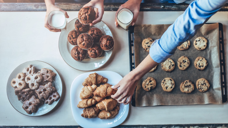 Assortment of cookies and muffins
