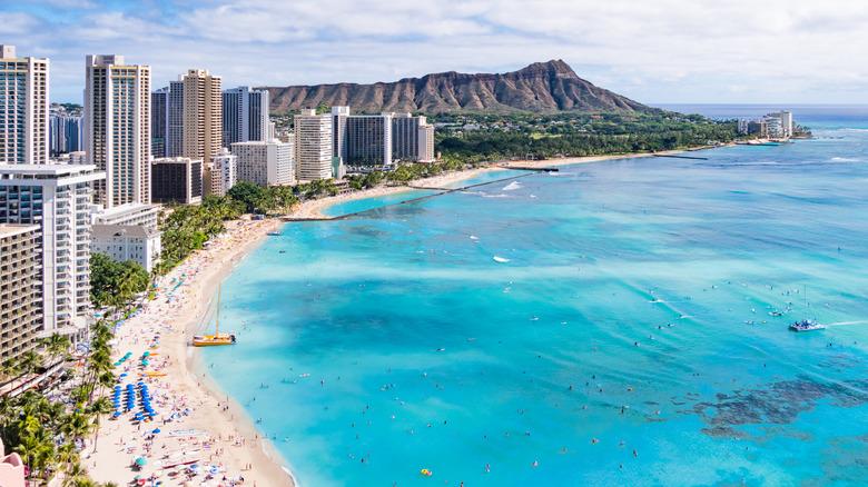 Honolulu coastline