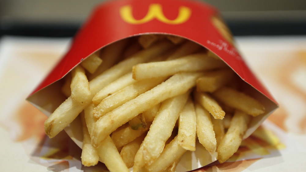 McDonald's fries in a container