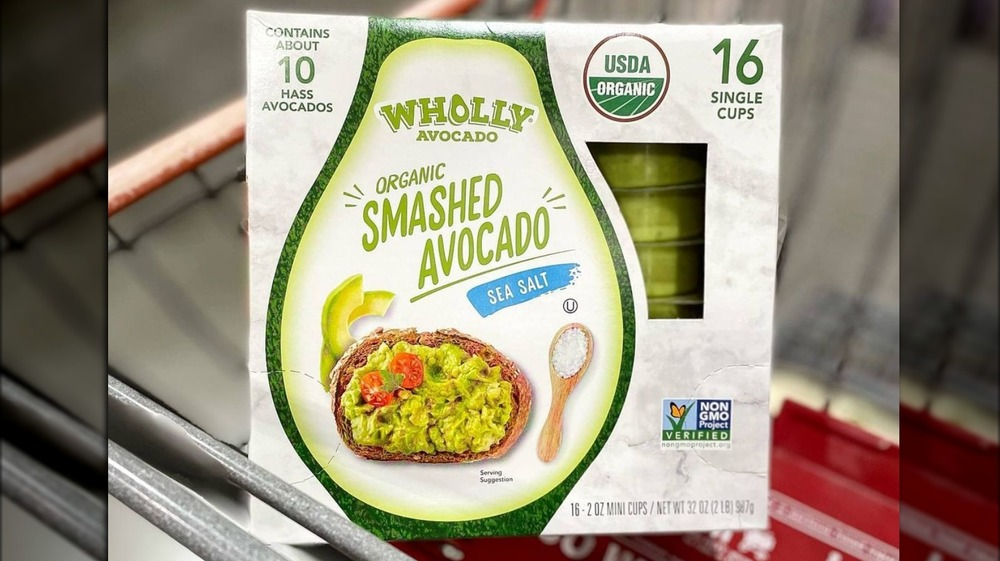Costco's smashed avocado in cart