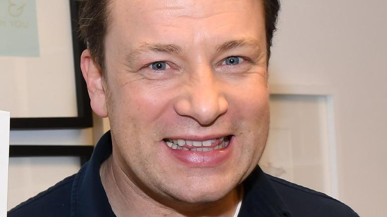 Jamie Oliver smiling