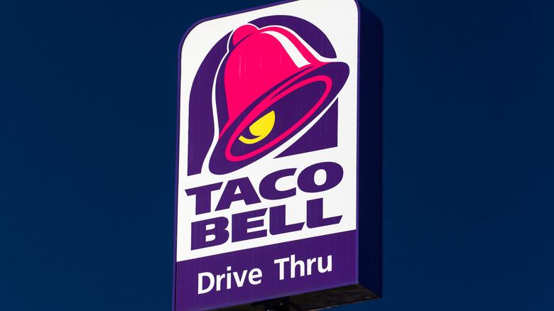 A Taco Bell Drive Thru sign
