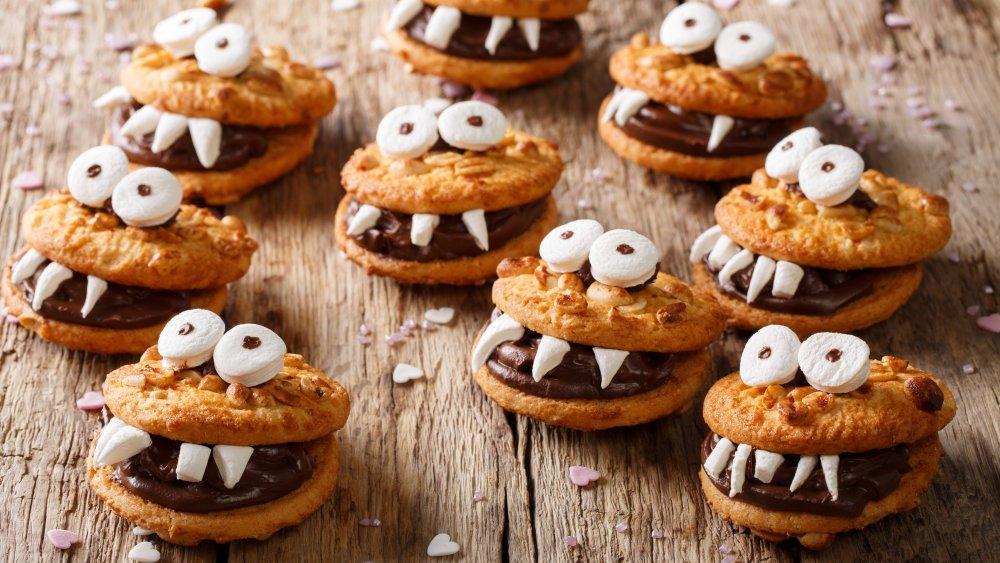 A generic shot of Halloween cookies