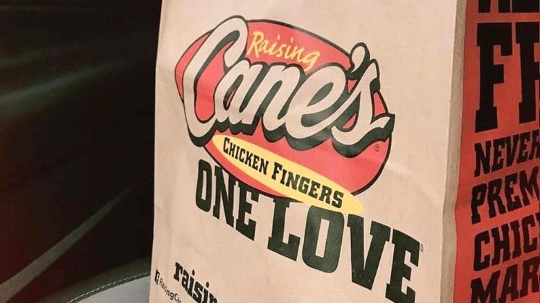 Raising Cane's bag