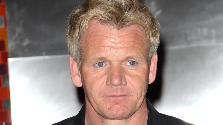 Close up of Gordon Ramsay