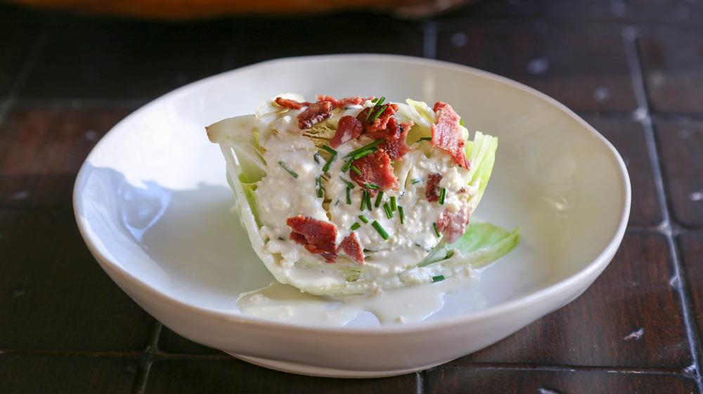 wedge salad served
