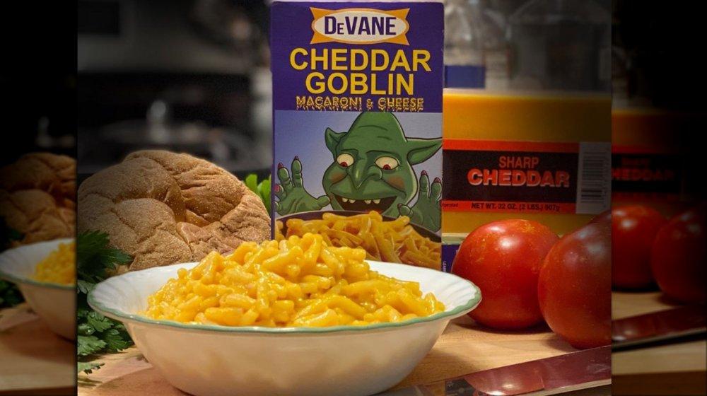 Cheddar Goblin Mac & Cheese
