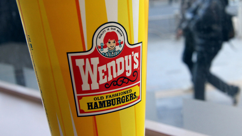Wendy's yellow cup