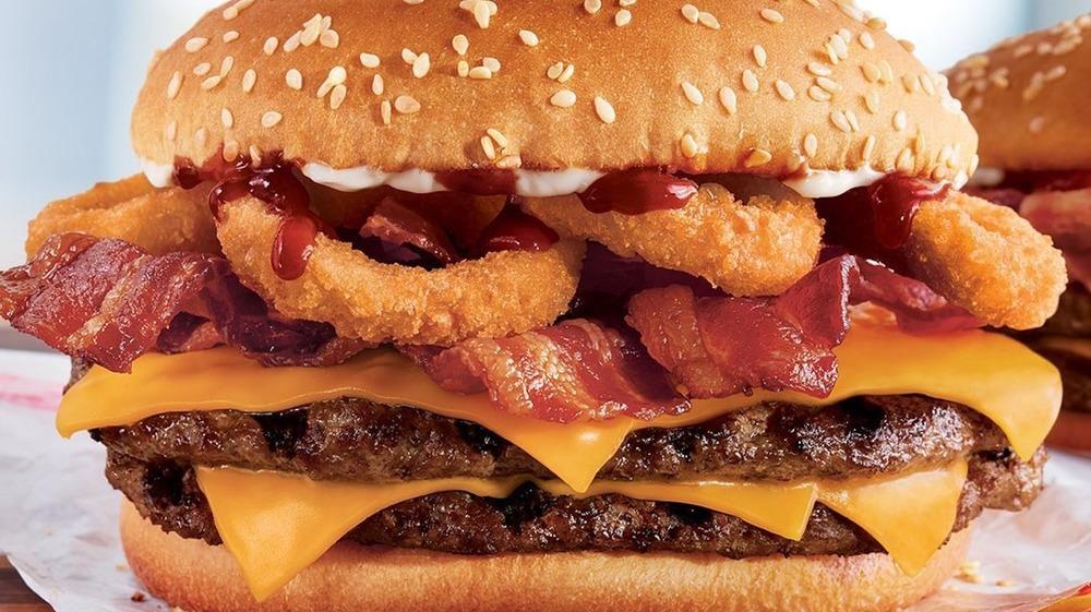 Rodeo burger from Burger King