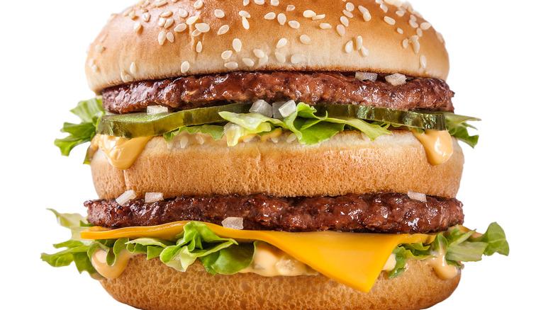 Closeup of McDonald's Big Mac