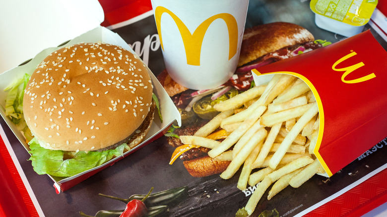 McDonald's french fries and burger