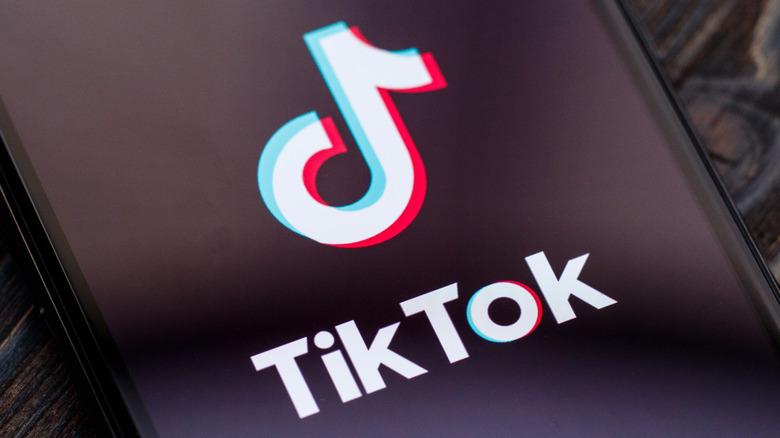 TikTok icon on cell phone