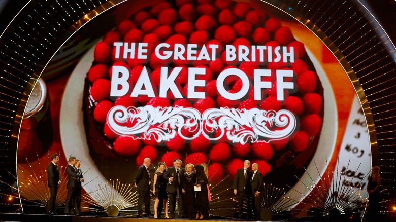 Awards stage with GBBO logo