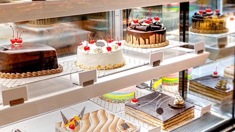 Store bakery shelves