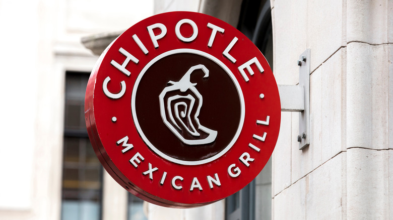 Close-up of a Chipotle Mexican Grill sign