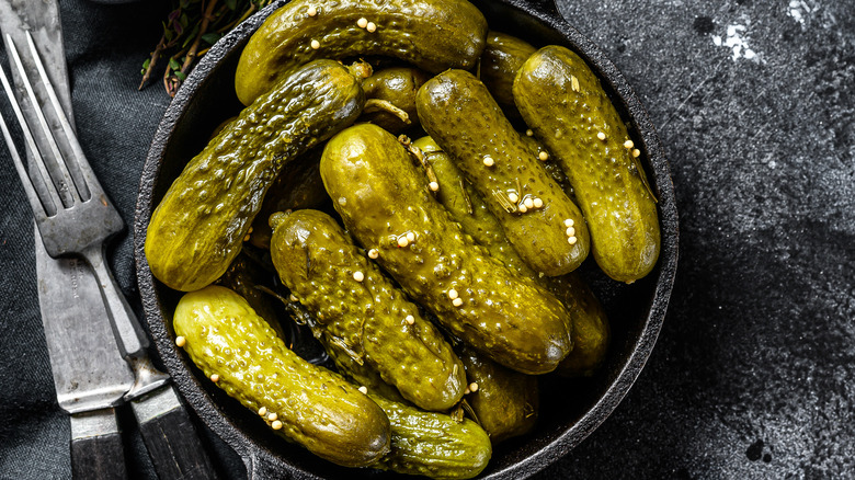 Pickles in pan