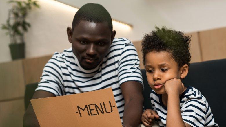 people reading menu