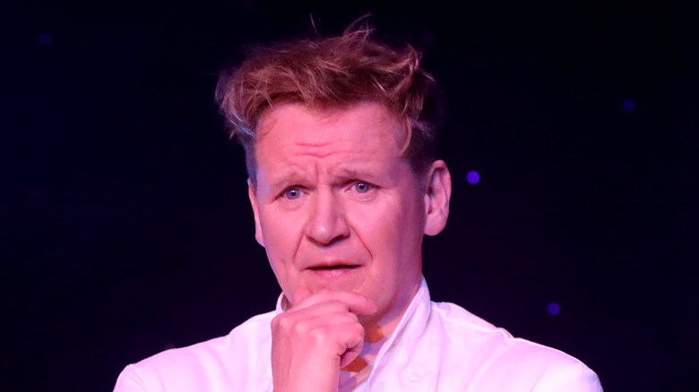 Gordon Ramsay with hand on his chin