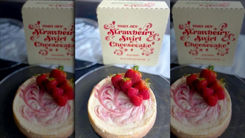 Trader Joe's Strawberry Swirl Cheesecake