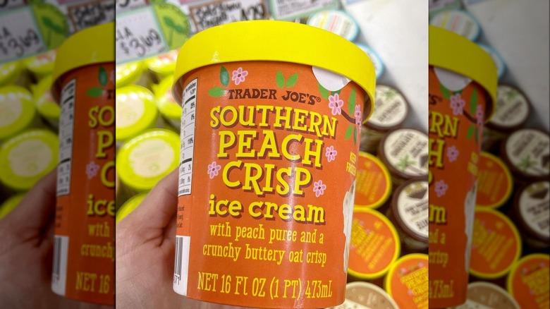 Trader Joe's Southern Peach Crisp Ice Cream