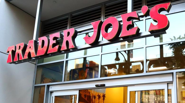 Outside a Trader Joe's store
