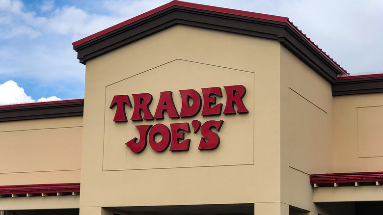 Trader Joe's sign with blue sky