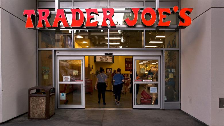 Outside a Trader Joe's location