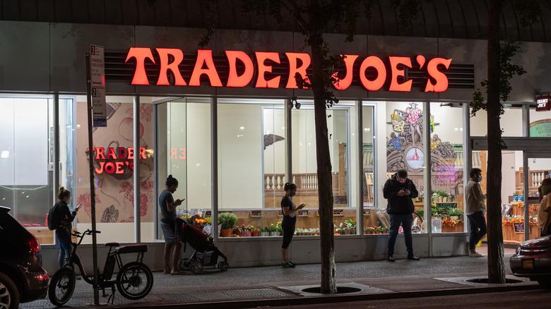 Outside a Trader Joe's outlet