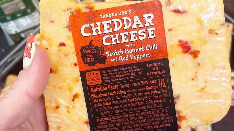 Trader Joe's spicy cheddar cheese
