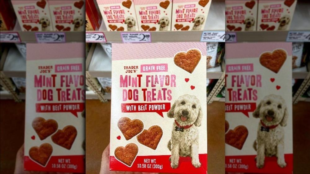 Box of new pet treats