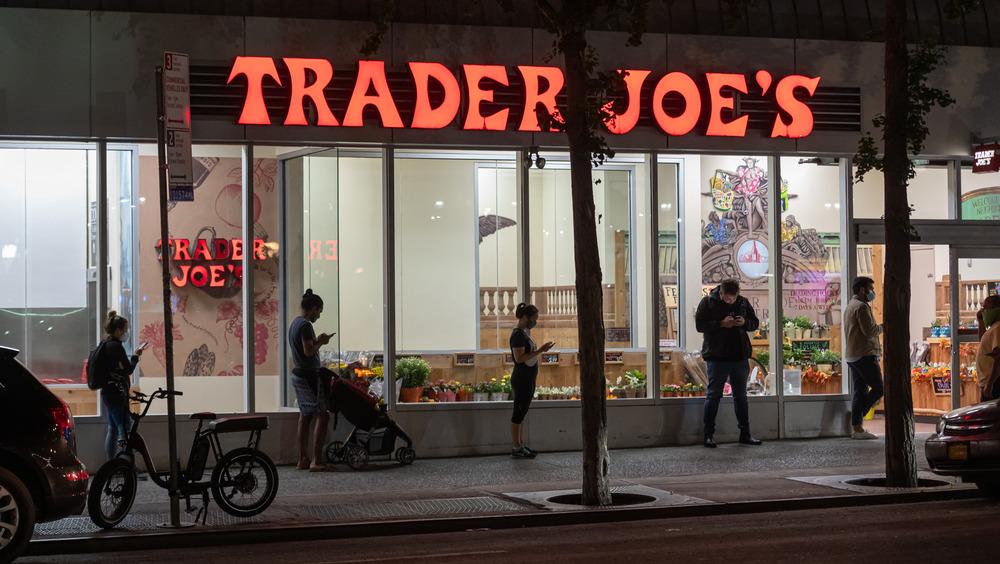 Trader Joe's storefront at night