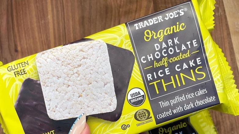 Trader Joe's chocolate covered rice cakes