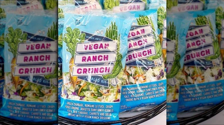Bags of the new Trader Joe's Salad