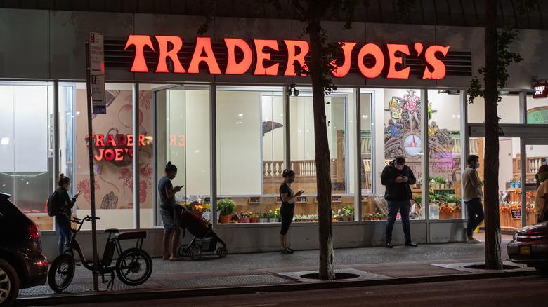 outside of a Trader Joe's store